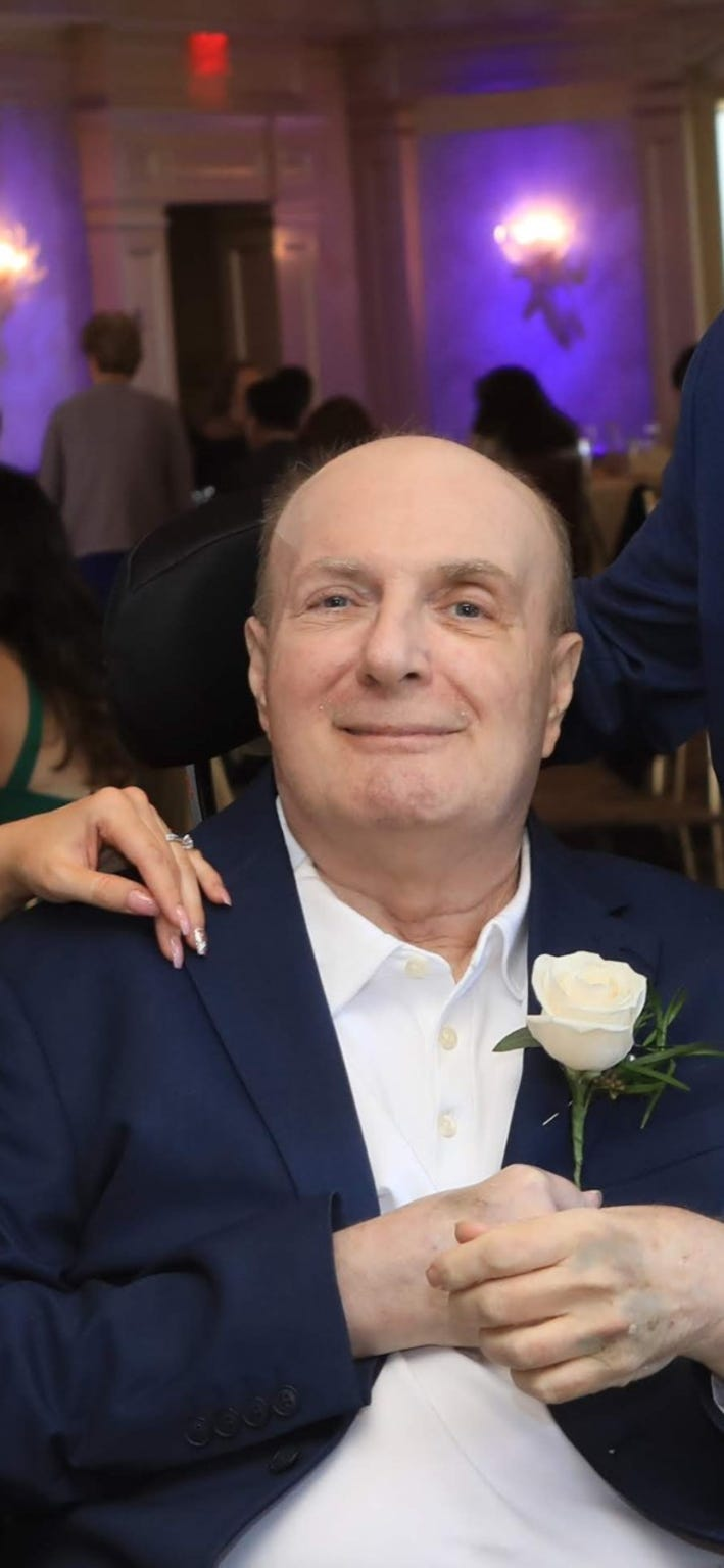 Vernon Peck, 74, a resident of the New Jersey Veterans Home at Menlo Park, died from COVD-19 in April 2020. Here he is months before at his daughter's wedding.