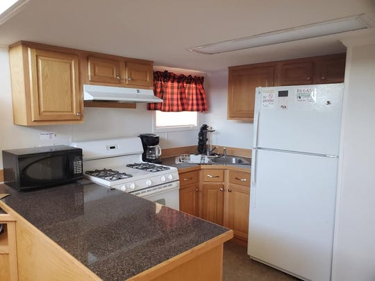 A kitchen awaits those who may want to spend a night or two at the Queen Cafe and Campground located nearly an hour west of Carlsbad.