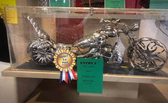 An entry from last year's Recycled Art contest held for Earth Day at White Sands Mall. Courtesy photo.