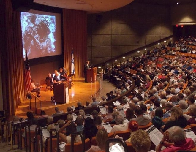 The Helene Galen Auditorium at the Annenberg Health Sciences Building at Eisenhower Health was the site of the 2019 Holocaust Remembrance Ceremony.
