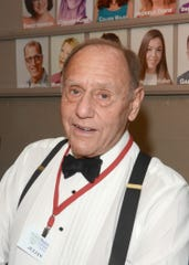 Julian di Ciurcio, photographed at Palm Canyon Theatre in Palm Springs, shows off his signature suspenders and bow tie.