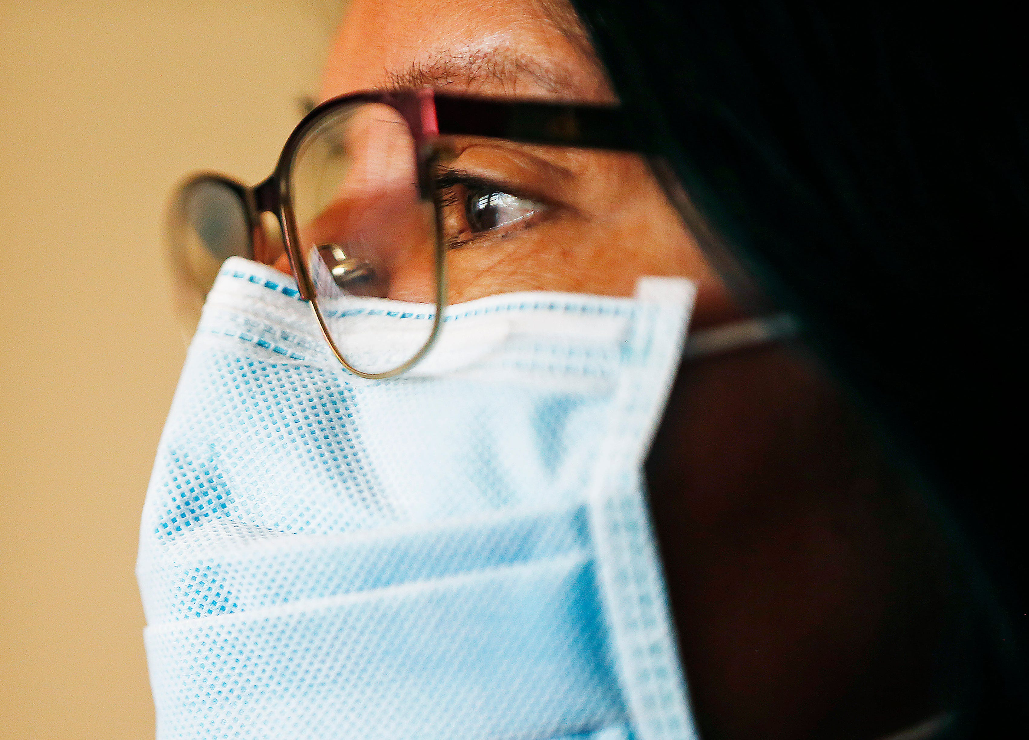 Tuba City Regional Health Care Center CEO Lynette Bonar wears a mask April 14, 2020. The hospital on Navajo Reservation in Arizona has seen a spike in COVID-19 cases. (Photo: Michael Chow/The Republic)