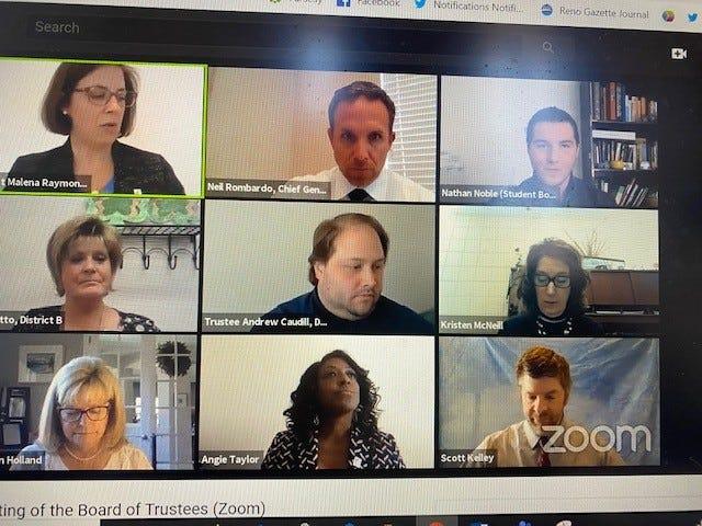 WCSD Trustees meet via Zoom on April 14, 2020