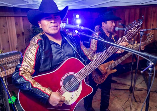 Porfirio Cenobio, 28, left and Max Cenobio, 30, are part of Max Y Su Sierreno a Mexican band based in Greenfield that plays locally throughout the Monterey County.