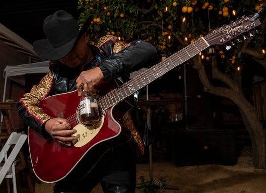 Porfirio Cenobio, 28, plays in a three man band that performs at birthdays, quinceneras, weddings and more.