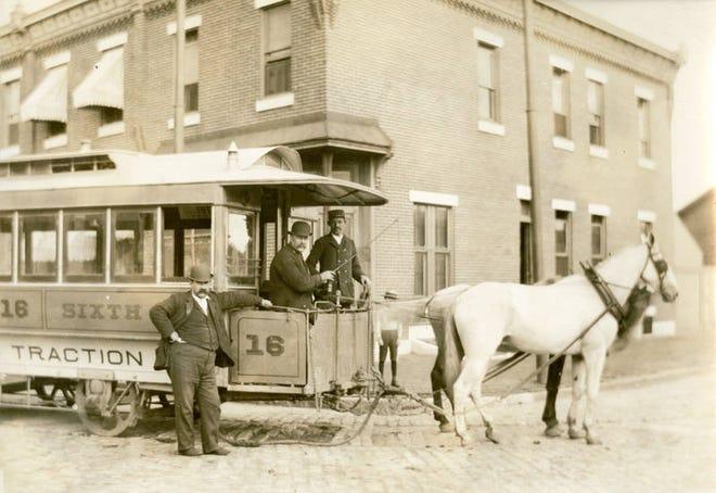 Horse drawn train