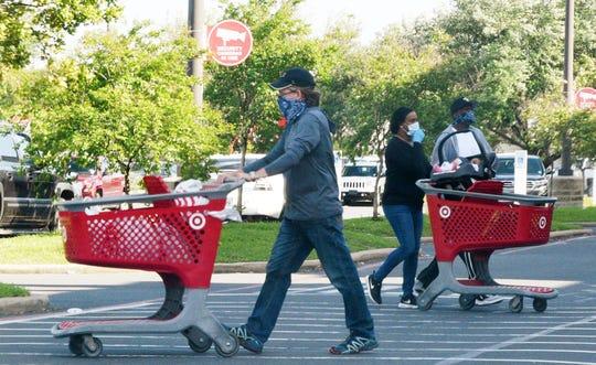 People shopping during the coronavirus in Shreveport Wednesday April 15, 2020.