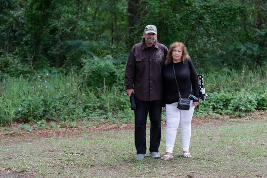Mickey West and Constance Nicosia spent seven nights sleeping under pavilions at Lake Ella and in a leaky tent in the woods as they awaited placement in non-congregate shelter by the Kearney Center.