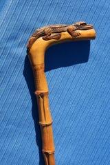 Victorian alligator carved cane.