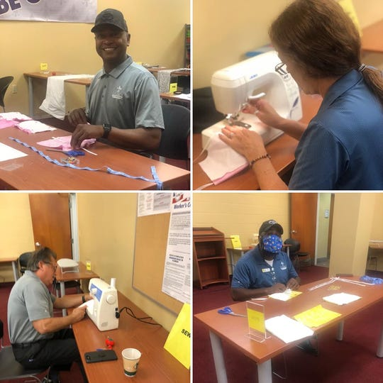 Legacy Toyota employees are using some of their work time to help make masks to prevent the spread of coronavirus.