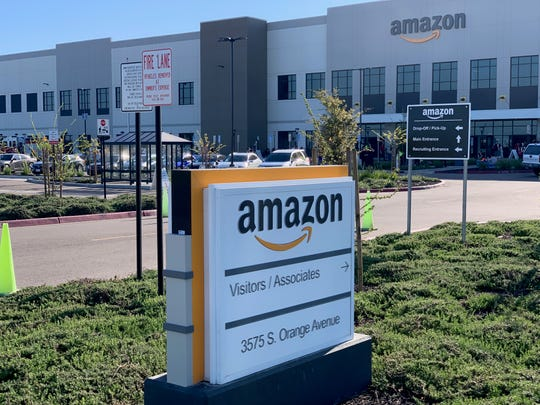 Fresno firefighters responded to a fire at Amazon Fulfillment Center on Tuesday, April 14, 2020.