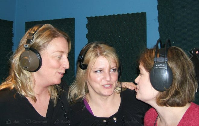 Members of 341, Jennifer Johnson, Janice Grimes and Kay Pickar, at a Nashville recording studio.