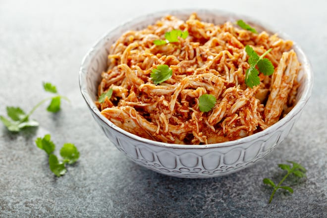 Enjoy the stress-reducing benefits of cooking with this shredded chicken dish and banana oatmeal cookie recipe.