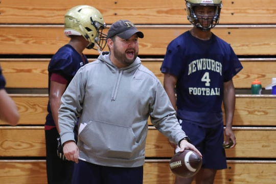Newburgh Free Academy coach Bill Bianco has turned to video teleconferencing to keep his players educated and motivated.