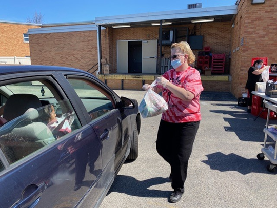 Colonial School District transportation and food service teams are helping feed students during the coronavirus pandemic.