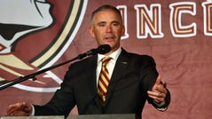New Florida State head football coach Mike Norvell, 38.