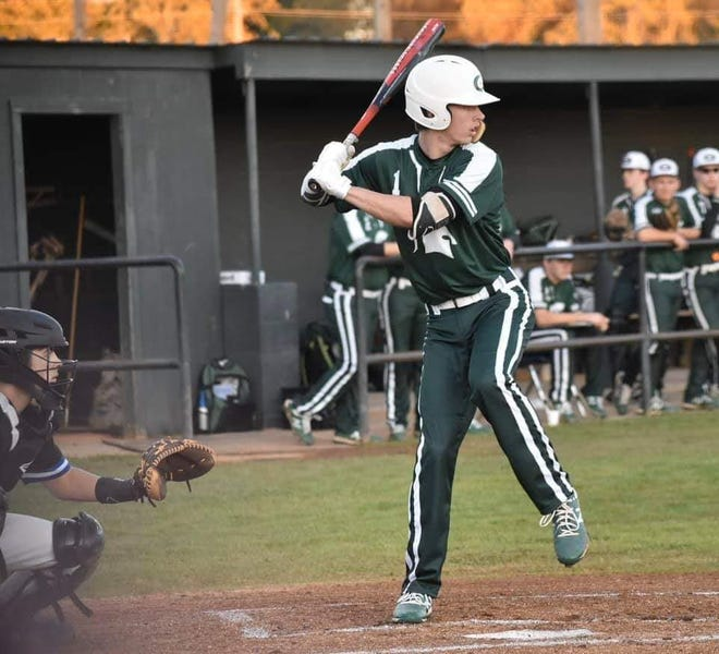 Grace Christian senior Jimmy Miller sets up to swing during a game this season.