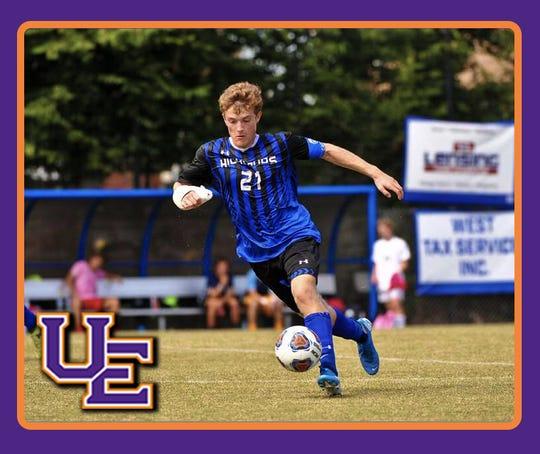 Porter Winn Hedenberg, senior captain of the Highlands High school soccer team, committed to the University of Evansville.