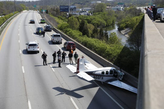 A small plane crashed on Interstate 75 northbound near Ronald Reagan Cross County Highway.