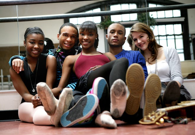 """The principal cast members of the first season of """"Taking the Stage"""" were (from left) Shaakira Sargent, Malik Kitchen, Jasmine White-Killins, Tyler Nelson and Mia Carruthers."""