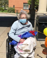 Mary Day, 76, celebrated her recovery from COVID-19 Wednesday April 15 when she returned home to Rosedale Green.