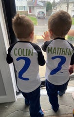 Colin and Matthew Darling's grandparents surprised the twins by decorating their home.