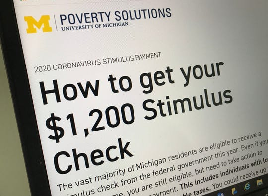 Low income households may need to take extra steps to get their stimulus cash or recovery rebates more quickly.  If not, some could wait up to five months for checks, experts say. The University of Michigan Poverty Solutions has a web site to help get the money more quickly.