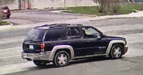 The second SUV was captured on a surveillance camera.