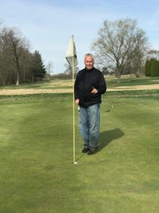 Greg Hostetler after his seventh hole-in-one.