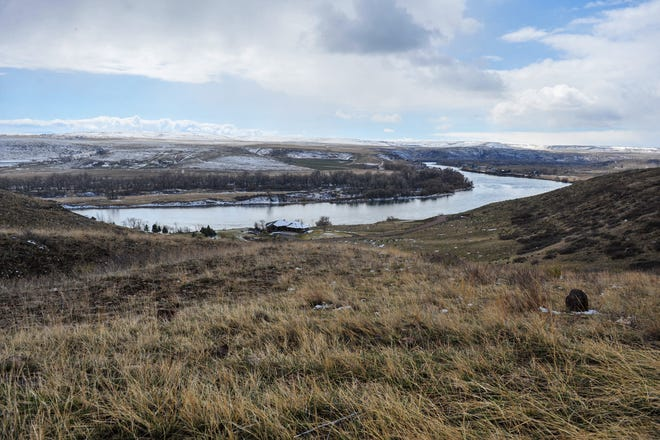 Missouri River as seen from the Big Bend development south of Great Falls.