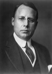 James M. Cox as he appeared when he was the Democratic nominee for president and spoke at the Grand Theater April 23, 1920. The theater was packed and about 1,000 people had to be turned away.