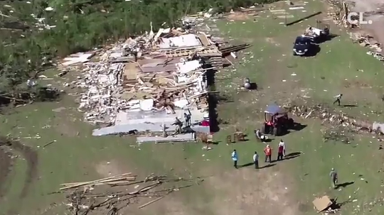 James Hill Church in Prentiss was leveled by the tornados that ripped through Mississippi Easter Sunday. Their building is gone, but their spirit continues.