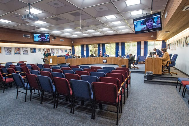 Lafayette Parish School Board holds virtual meeting as the stay at home order remains in effect. Wednesday, April 15, 2020.