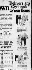 An ad from the April 10, 1922 Lancaster Daily Eagle.