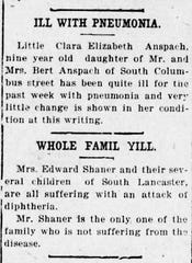 Notices from the April 10, 1922 Daily Eagle.