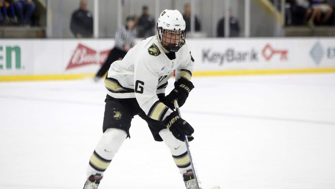 Colin Bilek of Brighton was Army's third-leading scorer this season with seven goals and 13 assists in 33 games.