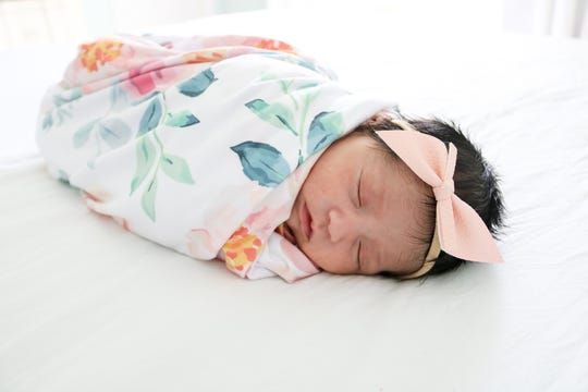 Elena Grace was born on April 6 in a COVID-19 unit at Baptist Health Louisville. She was separated from her mother for six days and came home April 12.