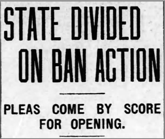 The headline on the front page of the Nov. 1, 1918, edition of the Lansing State Journal showcases an electorate upset over a stay-at-home order issued during the Spanish Influenza pandemic.