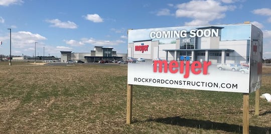 "A Meijer is still ""coming soon"" near Interstate 43 in Manitowoc."