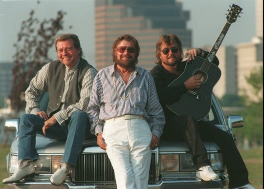 20 Jun 1996.  The First Family of Memphis Music -- Sam Phillips (center) and his sons Knox (left) and Jerry -- created a lasting legacy that in subtle and direct ways continues to influence the way Memphis is promoted and enjoyed by people who want to see where rock and roll began. Photo taken in Tom Lee Park.  Karen Pulfer Focht / The Commercial Appeal.