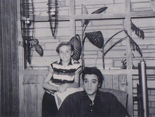 Knox Phillips and Elvis Presley.