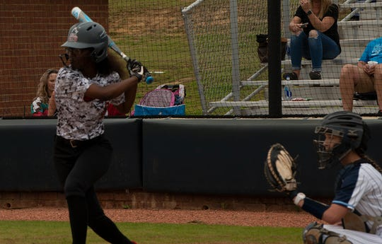 Christian Brothers University junior softball player Marquisha Sanders is also enrolled in the United States Navy Reserve. She went to high school at Millington.