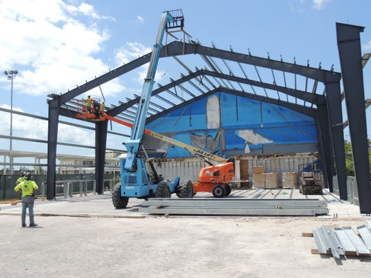 Work continues on the new home for the Marco Island Squadron of the Civil Air Patrol.