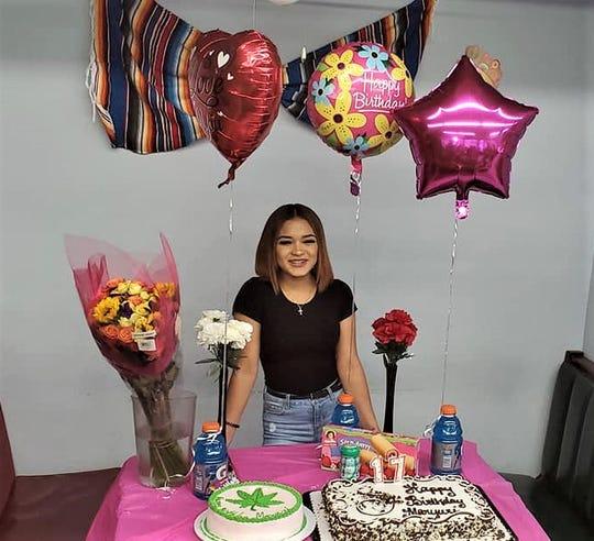 Maryuri Aleman Cantillano at her 17th birthday party