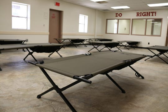 The male intake dorm Alabama prison officials have established at the previously shuttered Draper prison.