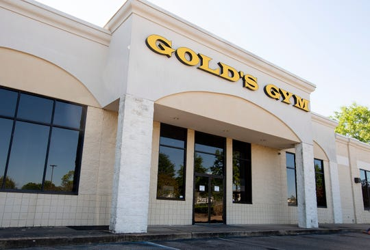 The Gold's Gym building located in EastChase in Montgomery, Ala., as seen on Thursday April 16, 2020.