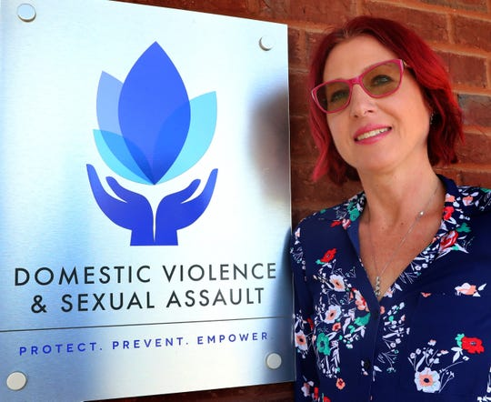 Ericka Downing, the Executive Director of the Domestic Violence & Sexual Assault Center, at her office on Thursday, April 16, 2020, in Murfreesboro.