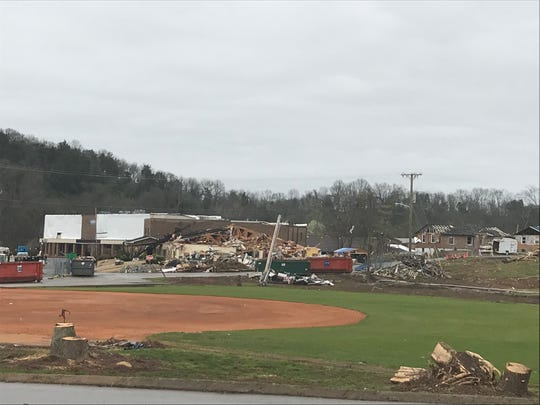 The Donelson Christian Academy on March 14, 2020, after a tornado hit the campus on March 3, 2020.