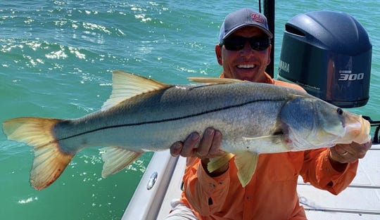 Juergen Sommer with a nice snook fishing the Naples area.