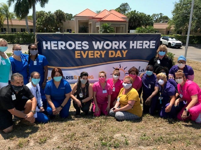 Employees at Solaris Senior Living North Naples are taking extra precautions to stop the coronavirus from infiltrating the nursing home.